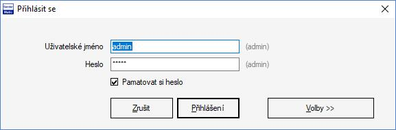 SenderMatic Emailer - Firebird přihlašovací okno